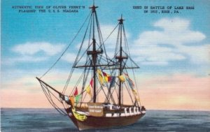 Battle of Lake Erie Picture Postcard