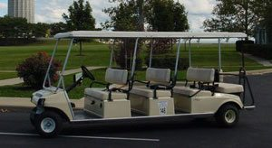 7 Things To Do in Put in Bay - Photo of an 8 person Put in Bay golf cart.