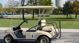 4 Person Golf Cart - Photo of a four person golf cart rental at Put-in-Bay.