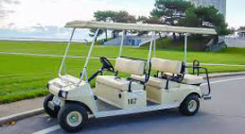 6 Person Golf Cart - Photo of a six person golf cart rental at Put-in-Bay.