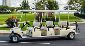 8 Person Golf Cart - Photo of an eight person golf cart rental at Put-in-Bay.